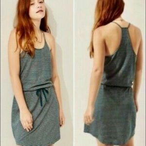 Lou & Grey Linen Blend Summer Racerback Dress L